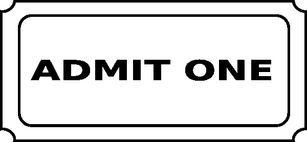 Admit One Ticket Template Awesome Free Printable Admit E Ticket Template Clipart Best