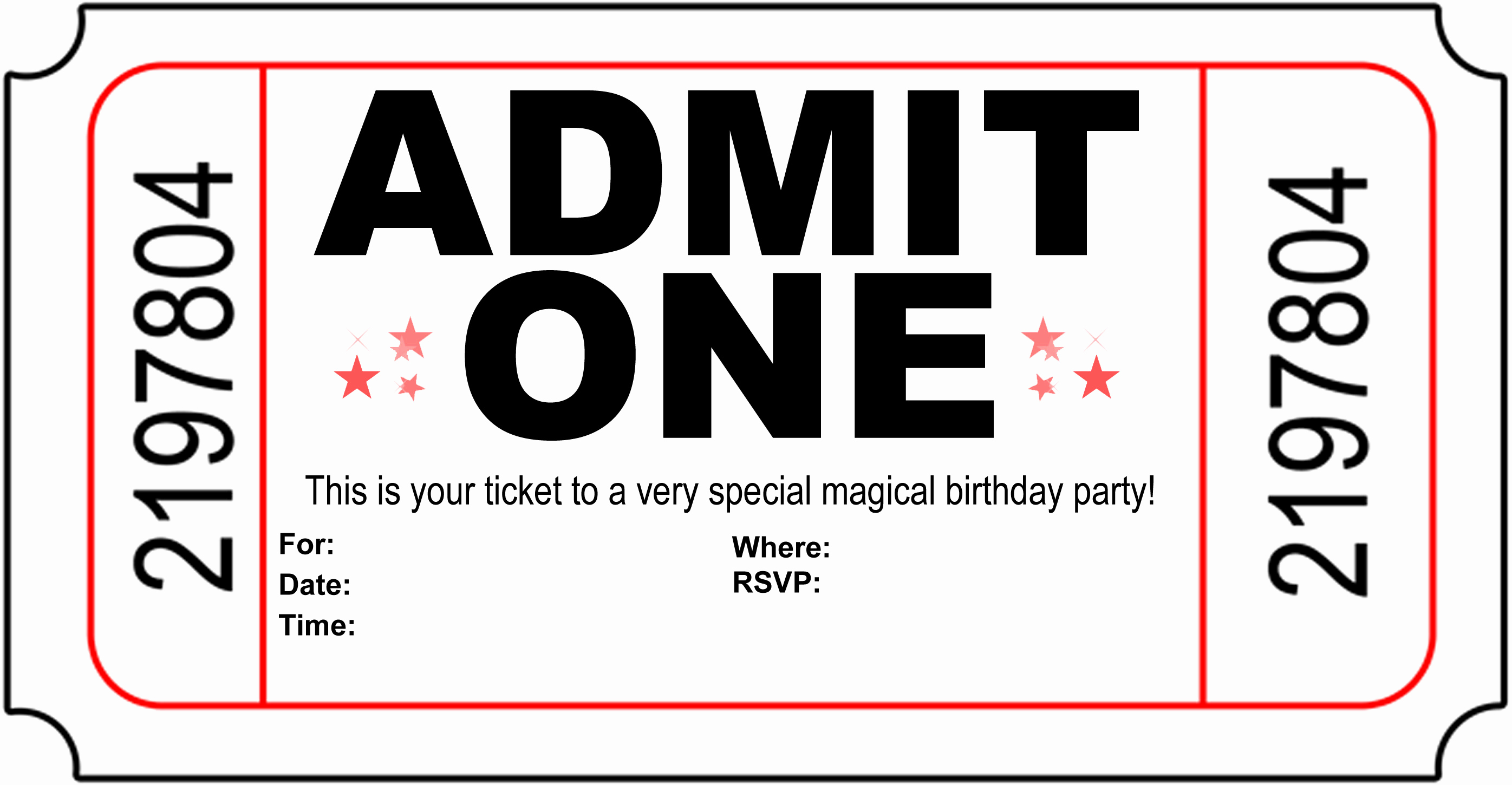 Admit One Ticket Template Beautiful Free Carnival Ticket Invitation Template Download Free