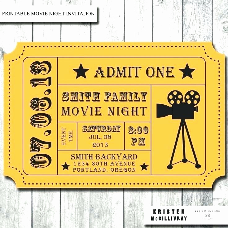 Admit One Ticket Template Best Of Extraordinary Admit E Movie Ticket Template Free
