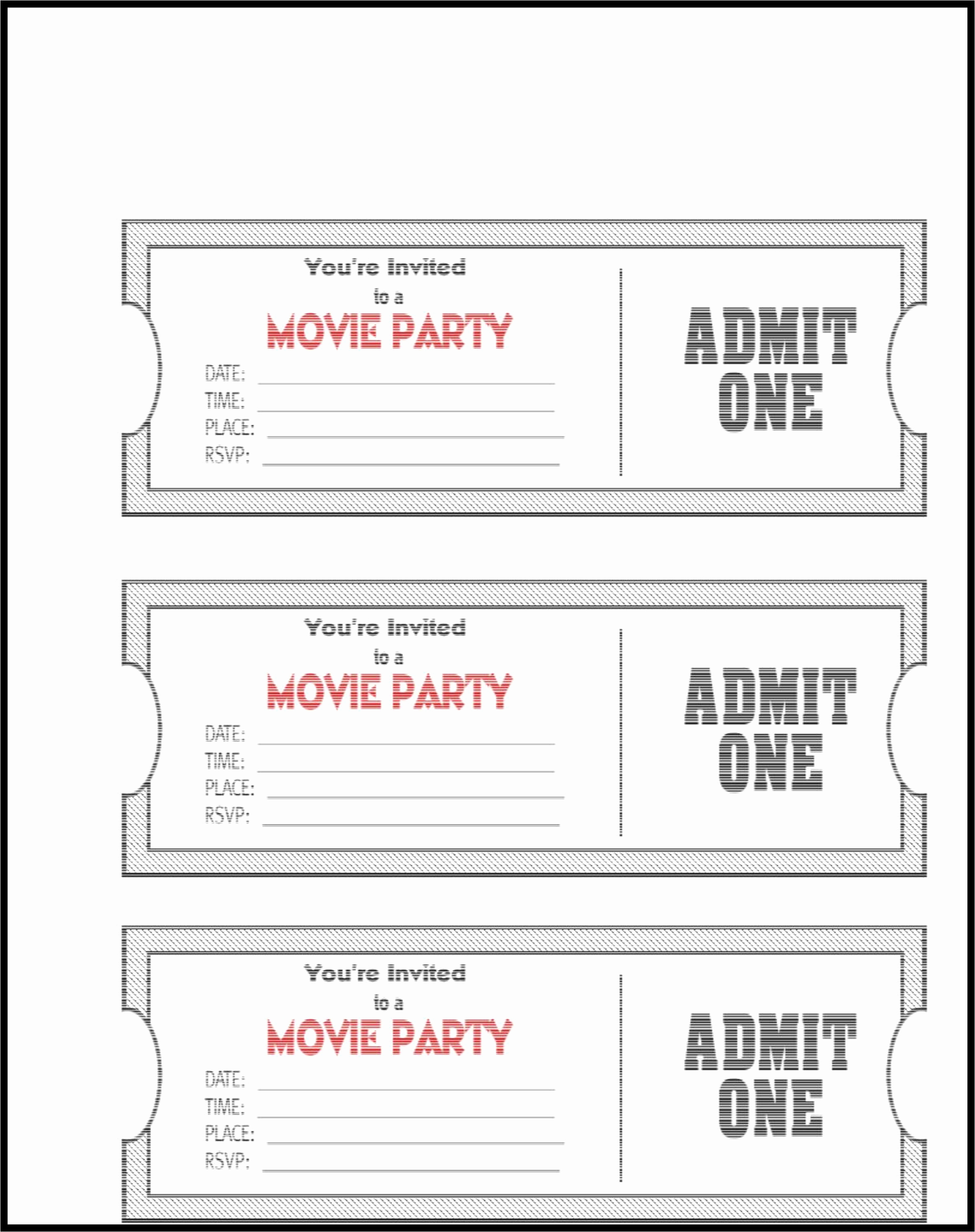 Admit One Ticket Template Elegant Admit E Ticket Template Example Mughals