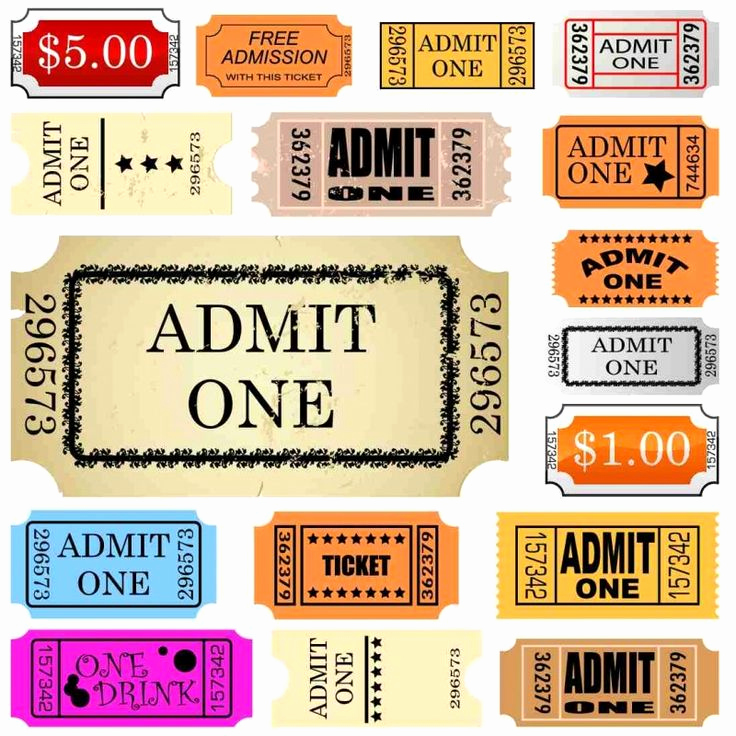 Admit One Ticket Template Elegant Set Of Ticket Admit One Happy Mail
