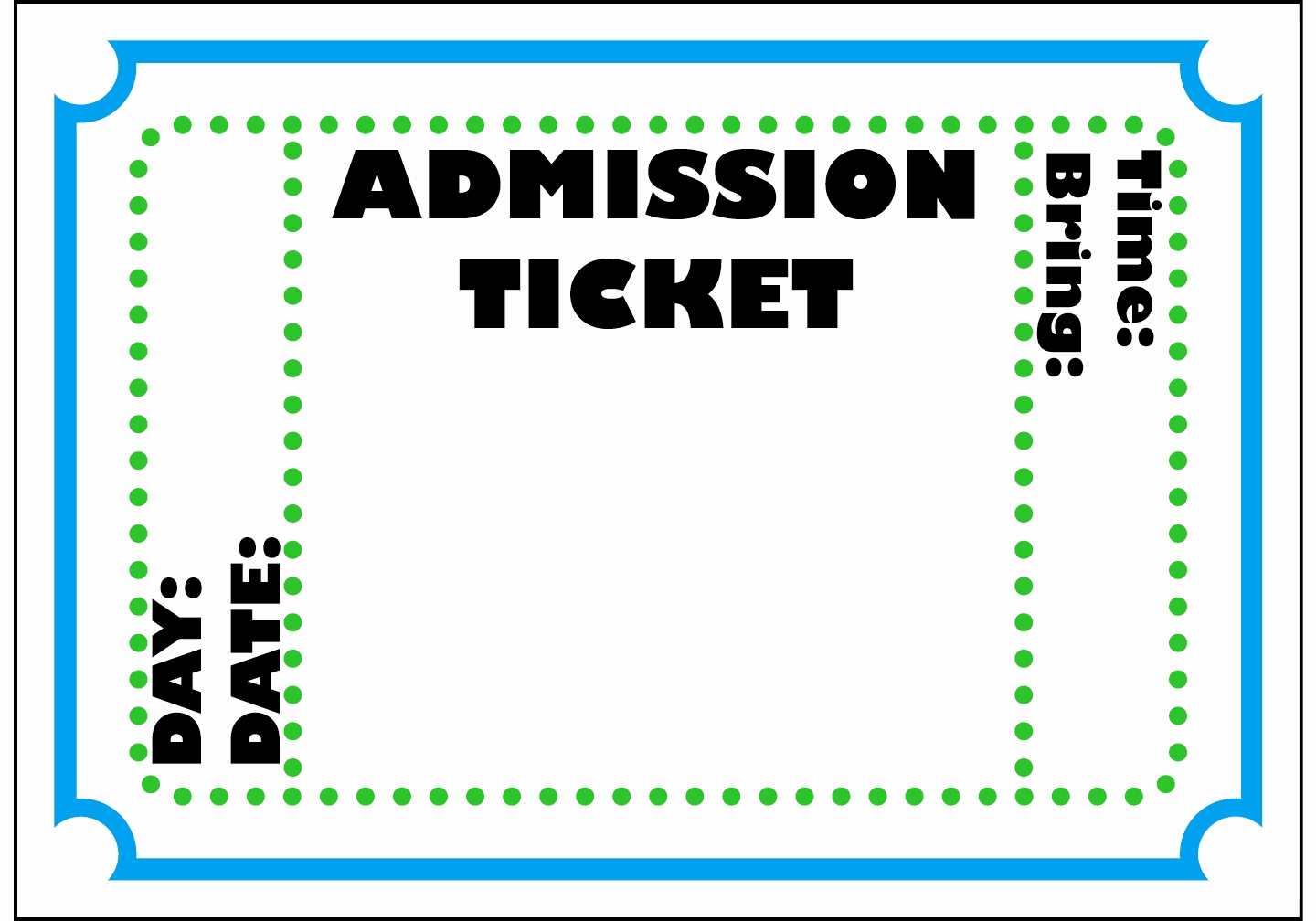 Admit One Ticket Template Fresh Admit E Ticket Template Example Mughals