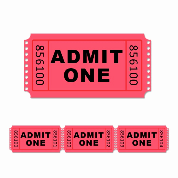 Admit One Ticket Template Fresh Free Printable Carnival Tickets Download Free Clip Art