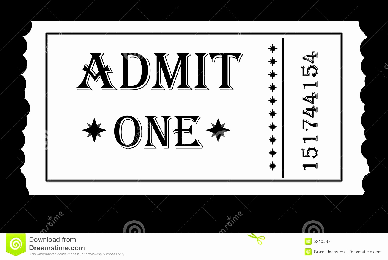 Admit One Ticket Template Inspirational Admit E Ticket Template Example Mughals