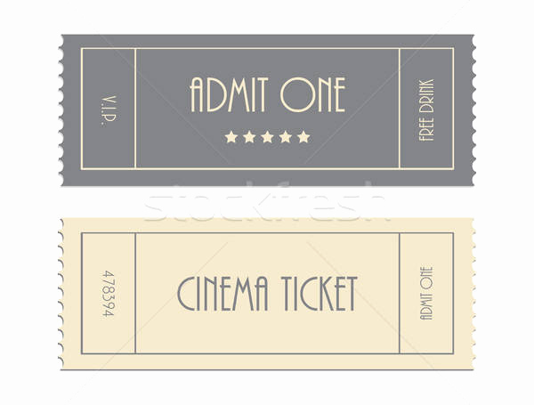 Admit One Ticket Template Inspirational Special Vector Ticket Template Admit One Cinema Ticket