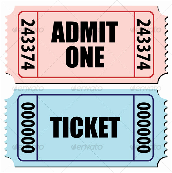 Admit One Ticket Template Inspirational Ticket Templates – 99 Free Word Excel Pdf Psd Eps