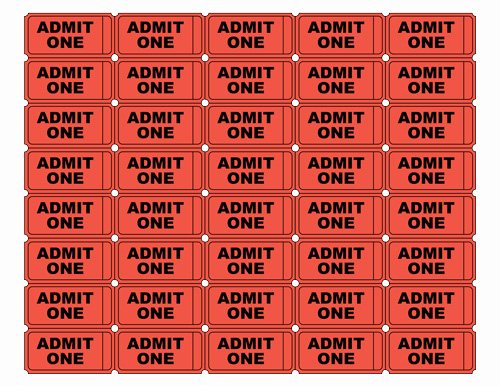 Admit One Ticket Template Lovely Admit E Ticket Psd Free Clipart Best
