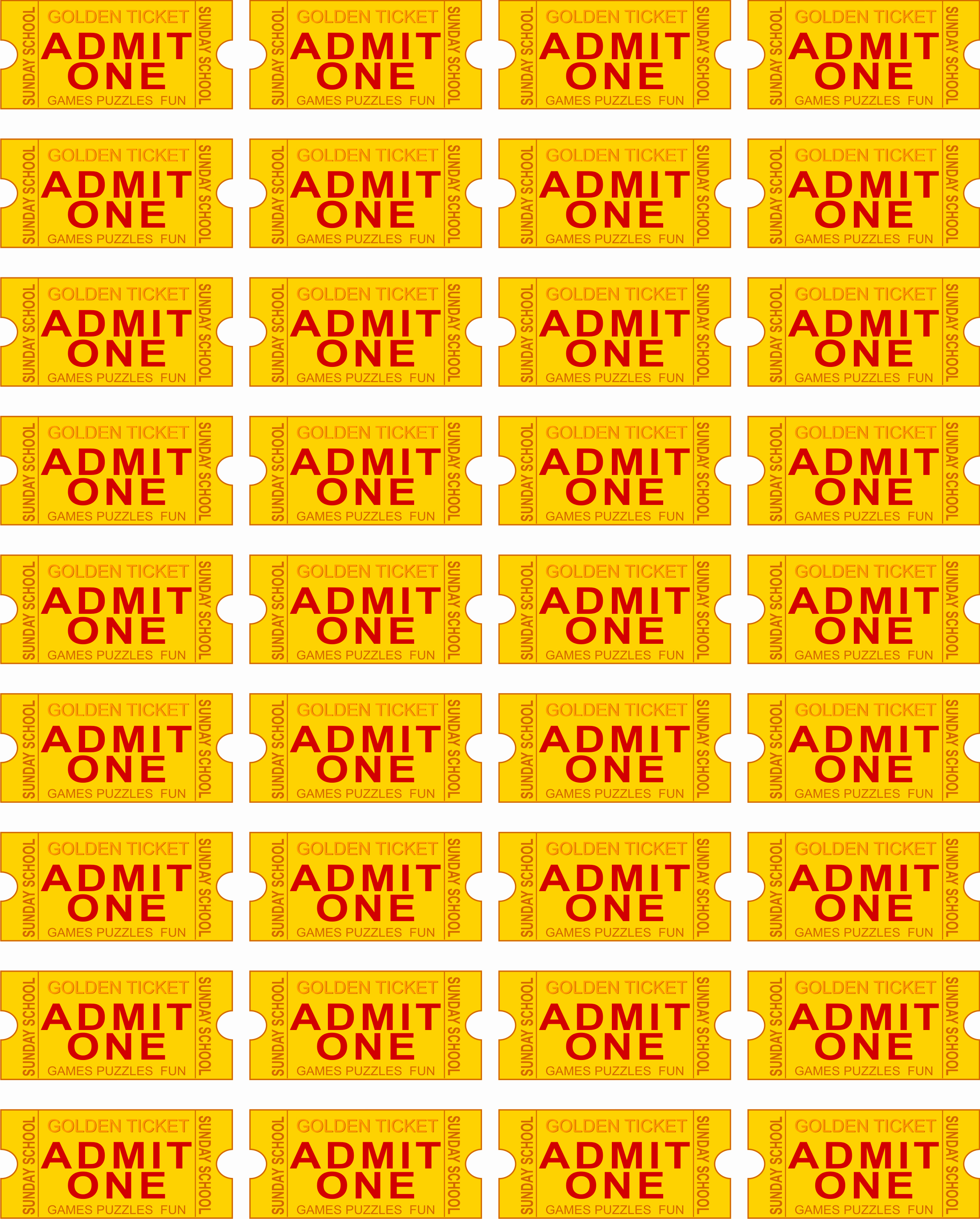 Admit One Ticket Template Lovely Free Printable Admit E Ticket Template Clipart Best