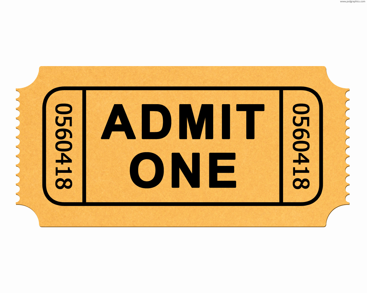 Admit One Ticket Template Luxury Free Printable Admit E Ticket Template Clipart Best