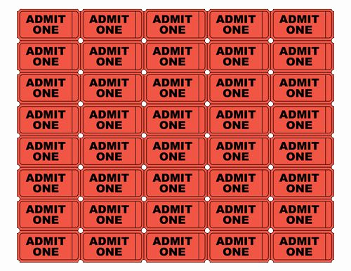 Admit One Ticket Template Luxury Free Printable Admit E Ticket Templates Blank