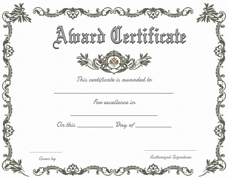 Award Certificate Template Free Awesome Royal Award Certificate Template Get Certificate Templates