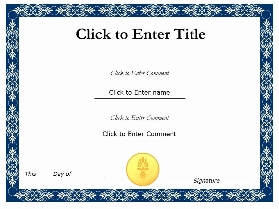 Award Certificate Template Free Best Of Award Certificate Template