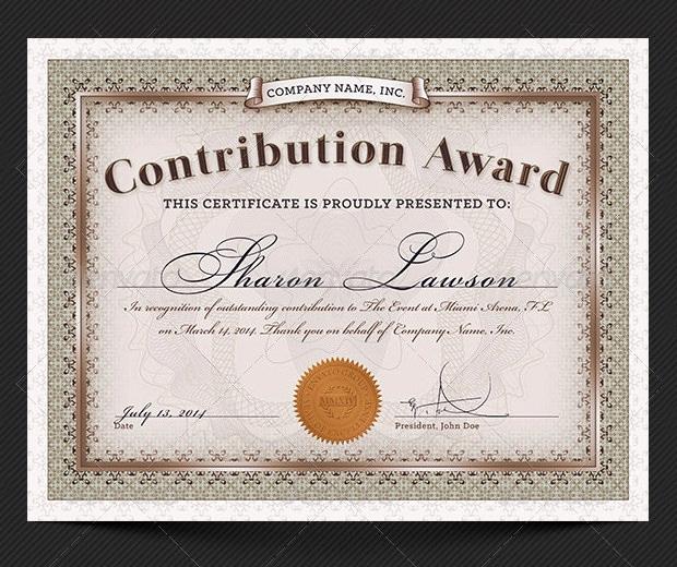 Award Certificate Template Free Fresh 45 Award Certificate Templates Word Psd Ai Eps