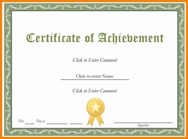Award Certificate Template Free Fresh 5 Editable Certificates Free