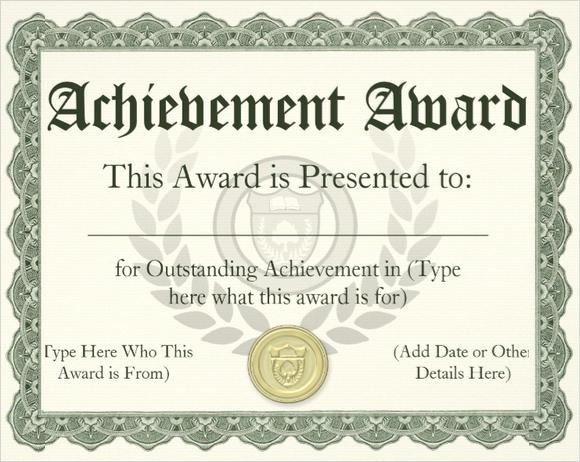 Award Certificate Template Free Inspirational 30 School Certificate Templates – Samples Examples