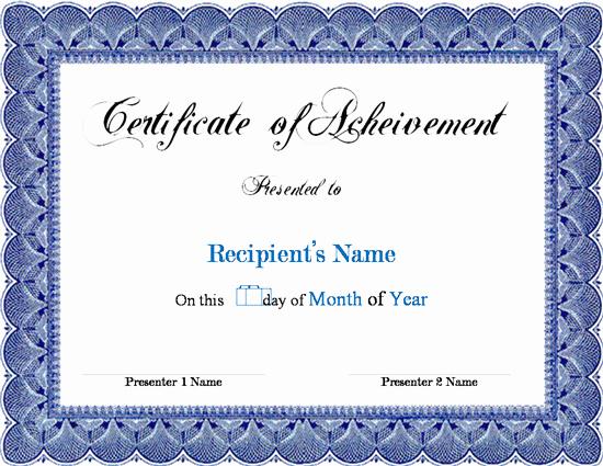 Award Certificate Template Free Inspirational Award Certificate Template Microsoft Word Links Service
