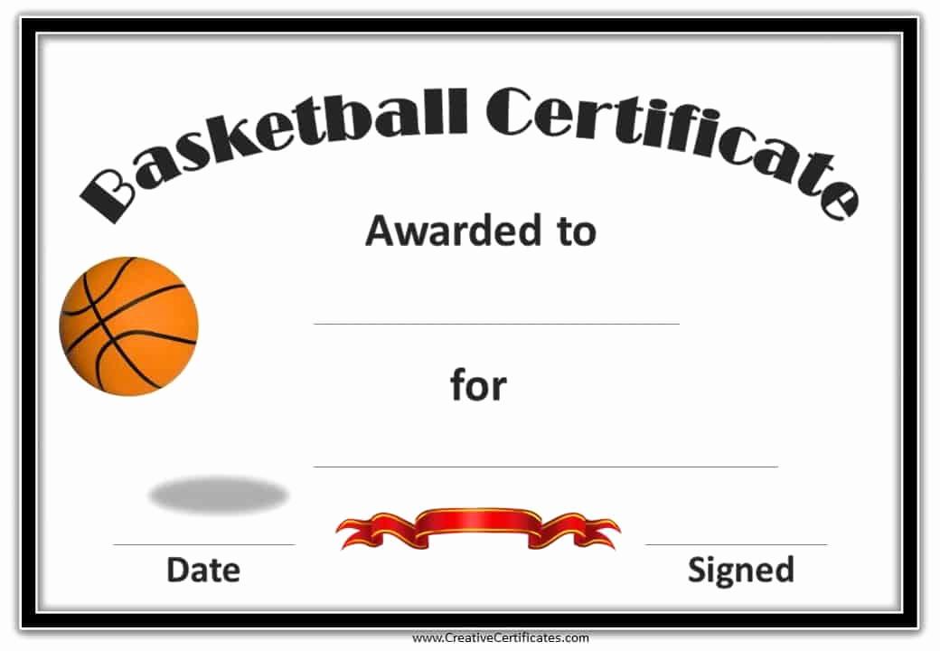 Award Certificate Template Free Inspirational Free Editable Basketball Certificates