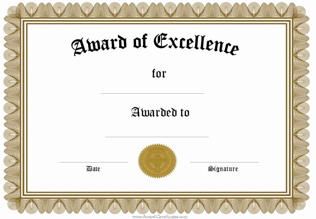Award Certificate Template Free Unique Certificate Template Google Docs