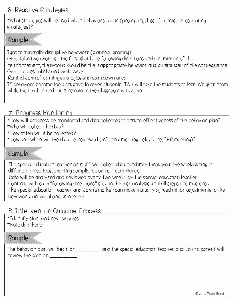 Behavior Intervention Plan Template Awesome the Bender Bunch Creating A Behavior Intervention Plan Bip