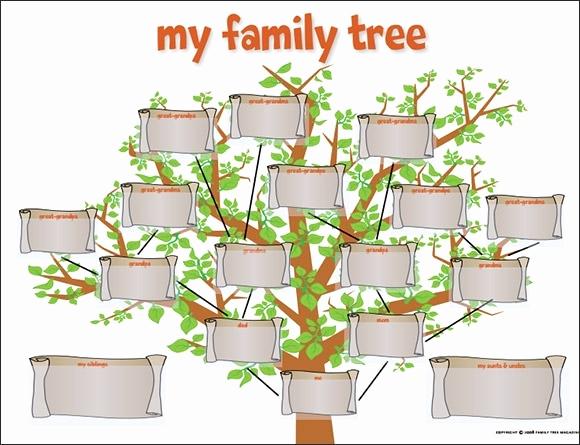 Blank Family Tree Template Beautiful Editable Family Tree Template Beepmunk