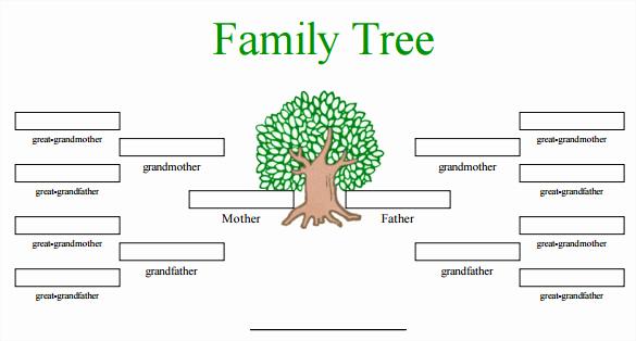 Blank Family Tree Template Elegant Blank Family Tree Template 32 Free Word Pdf Documents