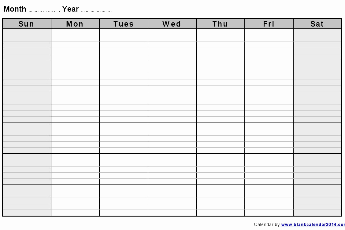 Blank Monthly Calendar Template Pdf Beautiful 2017 Pdf Monthly Blank Calendars