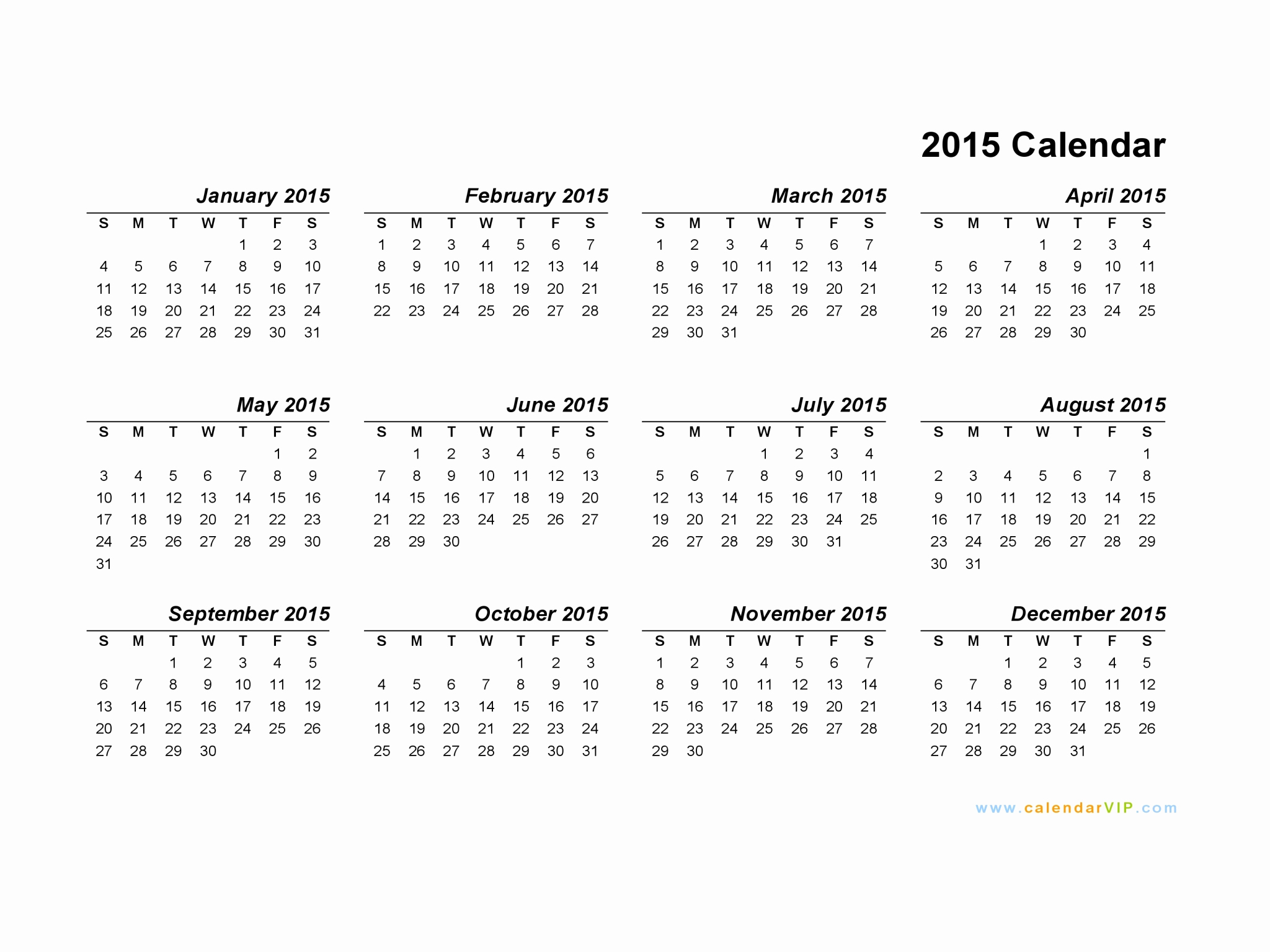 Blank Monthly Calendar Template Pdf Elegant 2015 Calendar Blank Printable Calendar Template In Pdf
