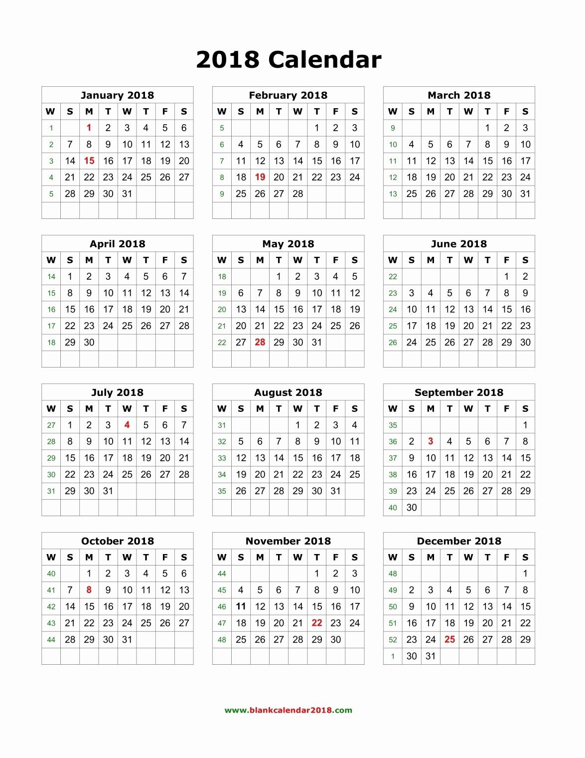 Blank Monthly Calendar Template Pdf Inspirational Blank Calendar 2018 Portrait