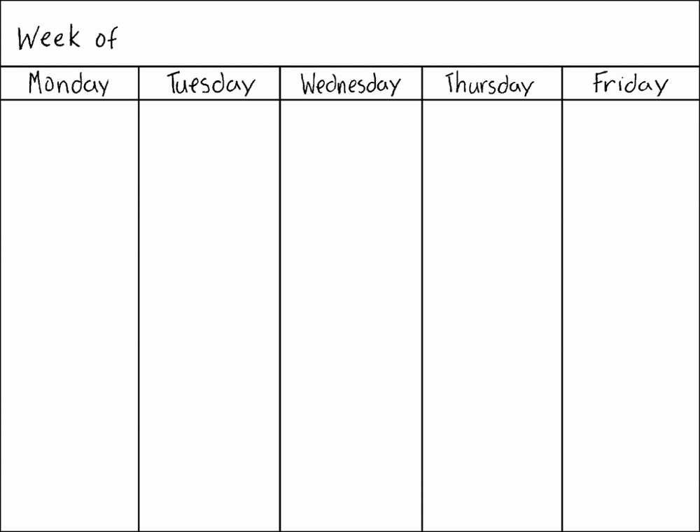 Blank Monthly Calendar Template Pdf Unique Blank Weekly Calendars Printable