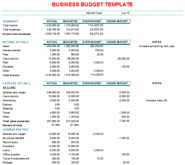 Business Budget Template Excel Luxury Business Bud Spreadsheet Template Bud Spreadshee