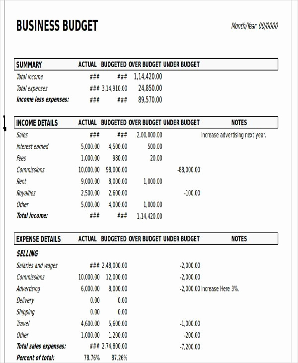 Business Budget Template Excel Luxury Excel Business Bud Template – Business Bud Template