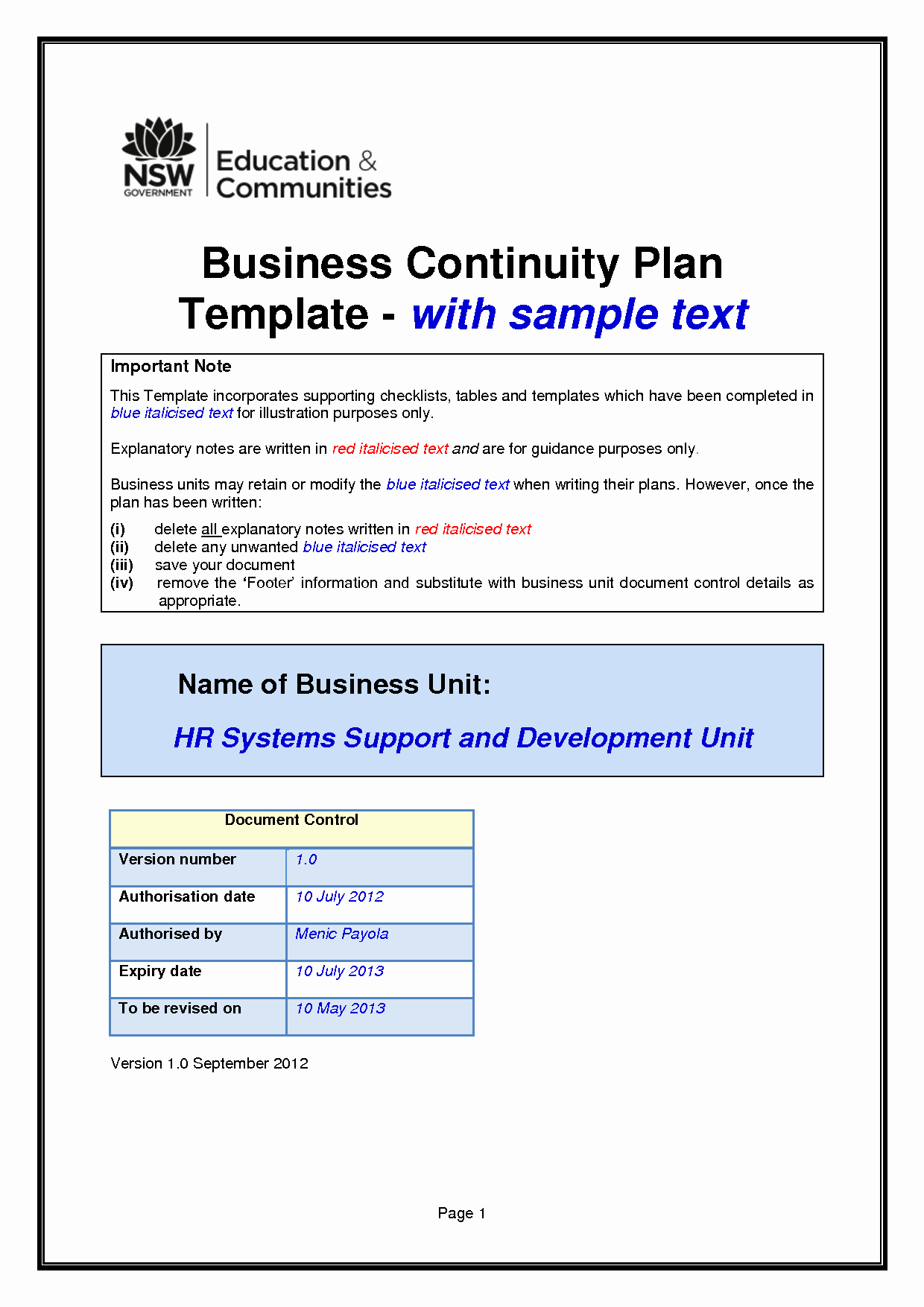 Business Continuity Plan Sample Beautiful Business Continuity Plan Template