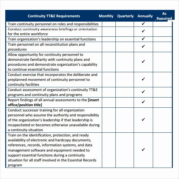 Business Continuity Plan Sample Luxury 12 Sample Business Continuity Plan Templates