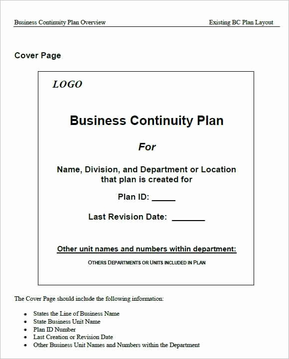 Business Continuity Plan Sample New 7 Free Business Continuity Plan Templates Excel Pdf formats