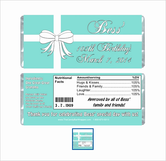 Candy Bar Wrapper Template Inspirational 35 Candy Bar Wrapper Templates – Free Word Pdf Psd Eps