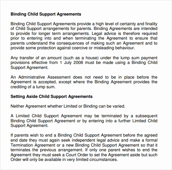 Child Support Agreement Template Beautiful 10 Sample Child Support Agreement Templates Pdf