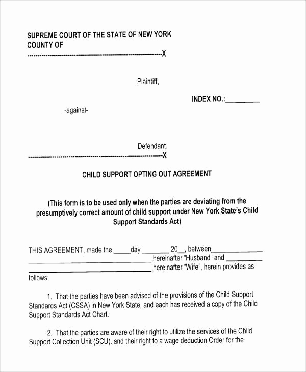 Child Support Agreement Template Beautiful 7 Child Support Agreement form Samples Free Sample