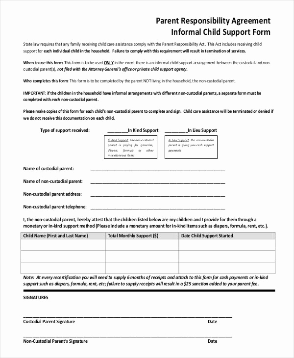 Child Support Agreement Template Lovely 10 Child Support Agreement Templates Pdf Doc