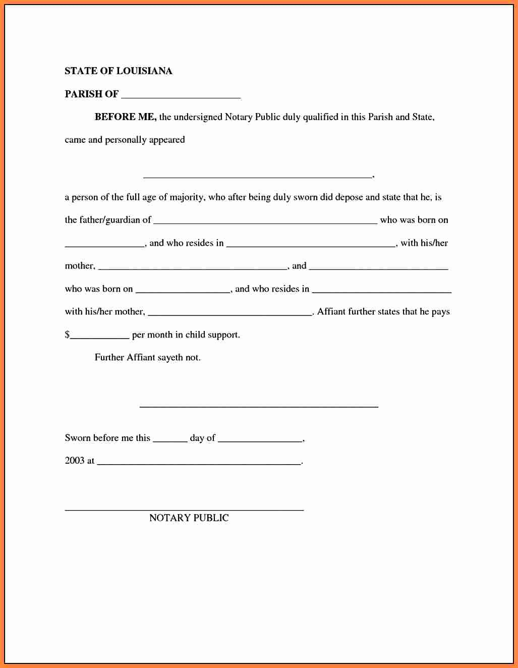 30 Child Support Agreement Template Tate Publishing News