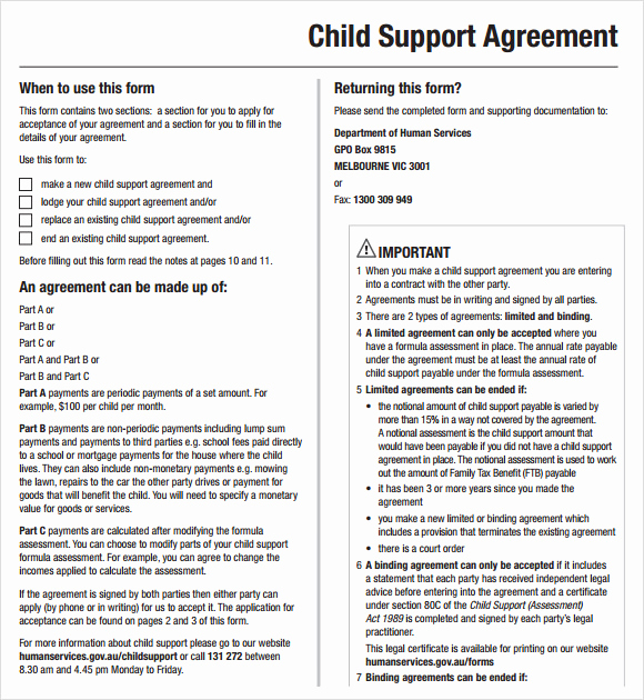 Child Support Agreement Template New Child Support Agreement Template Studyclix Web Fc2