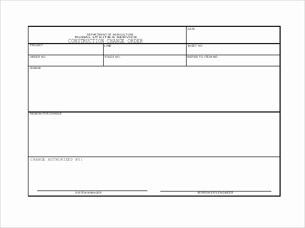 Construction Change order form Awesome 10 Sample Construction Change order forms