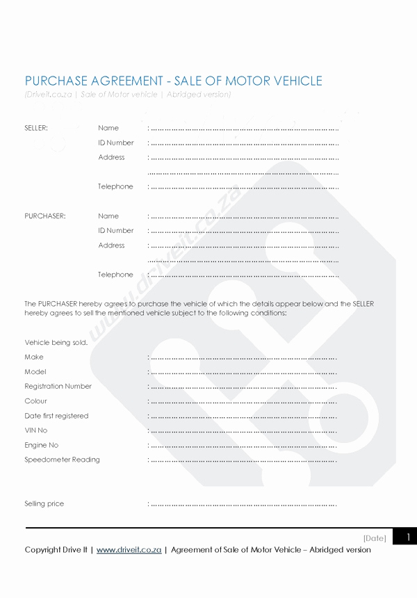 Contract for Selling A Car Fresh Contract 2 Agreement to Sell Car Abridged Version