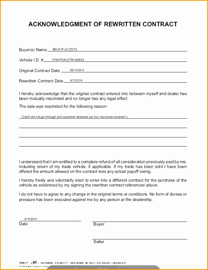 Contract for Selling A Car Inspirational Car Payment Agreement Contract Template 3 Take Over as is