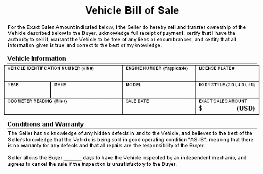 Contract for Selling A Car Inspirational How to Write A Contract for Selling Your Car