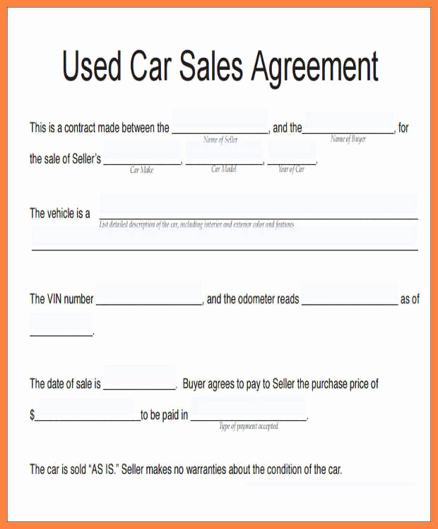 Contract for Selling A Car New How to Write A Contract for Selling A Car Hashtag Bg