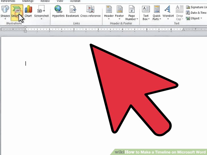 Create A Timeline In Word Awesome How to Make A Timeline On Microsoft Word 7 Steps with
