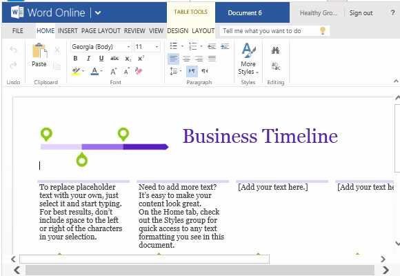 Create A Timeline In Word Beautiful Business Project Timeline Template for Word Line