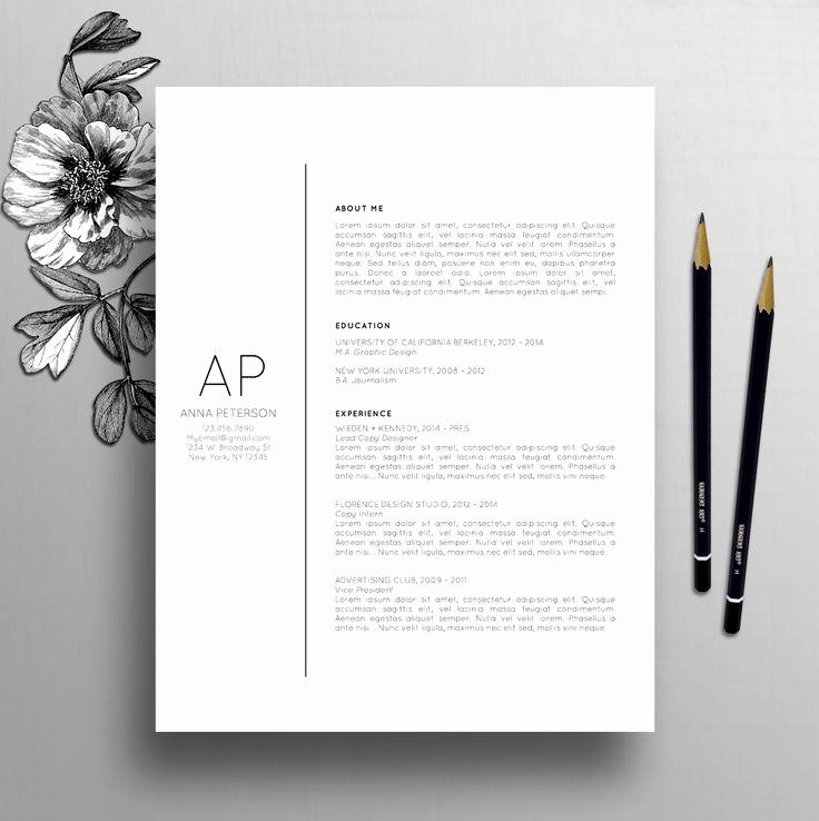 Creative Cover Letter Template Best Of 25 Best Cover Letter Design Ideas On Pinterest