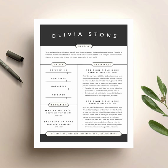 Creative Cover Letter Template Lovely Creative Resume Template and Cover Letter Template for Word