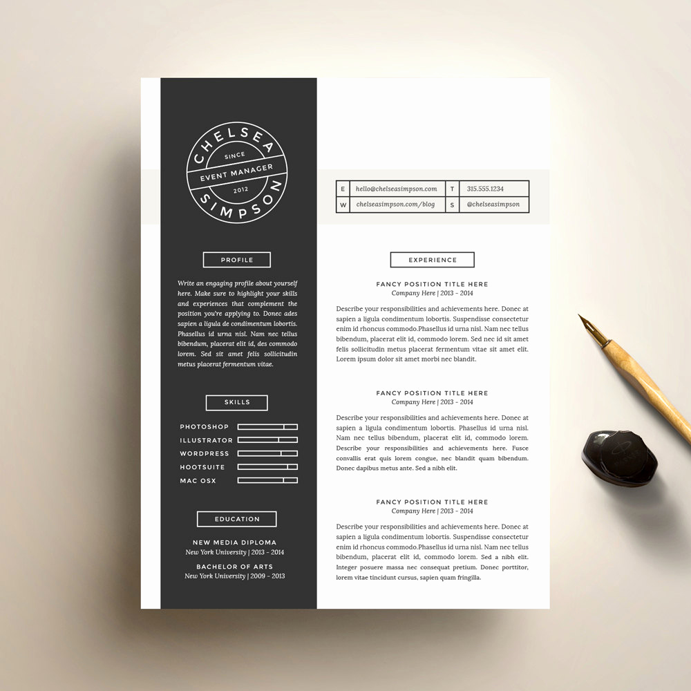 creative resume template and cover